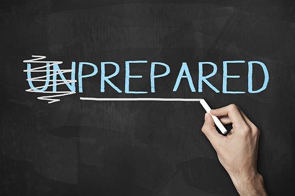 Prepared and Unprepared / Blackboard concept(Click for more)